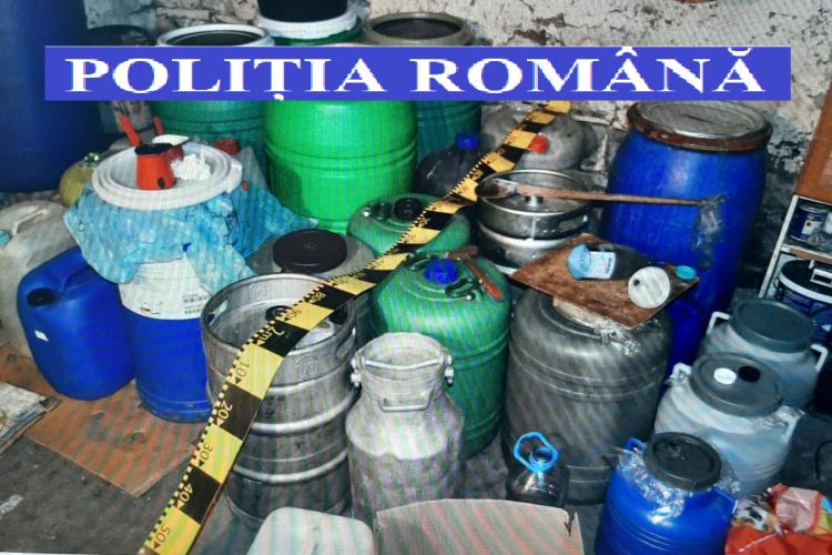Contrabandiști de alcool prinși la Cluj, după percheziții în Aluniș, Gherla și Florești