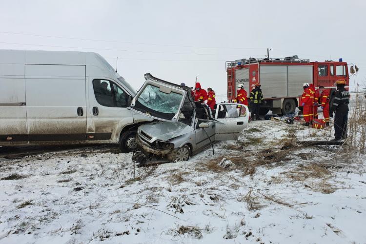 Accident mortal între Homorod și Cața, județul Brașov - FOTO