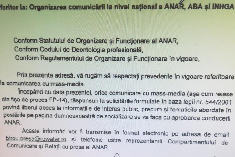 """Șefii Companiei """"Apele Române"""" le interzic angajaților să mai vorbească după scandalurile """"Angajări pe Pile"""" - Dovada"""
