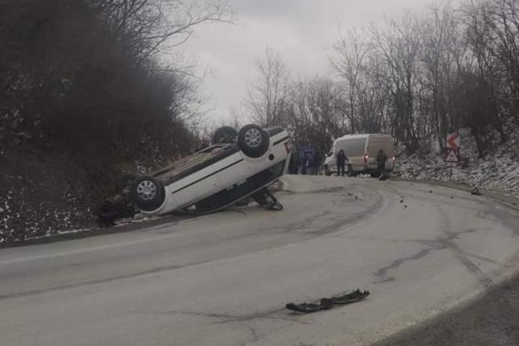 Accident la intrare în Cluj dinspre Reghin - FOTO