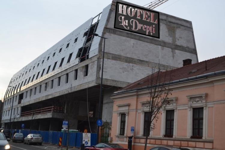 """Hotelul """"monstru"""" de pe strada Avram Iancu a primit un nume de la clujeni - FOTO"""
