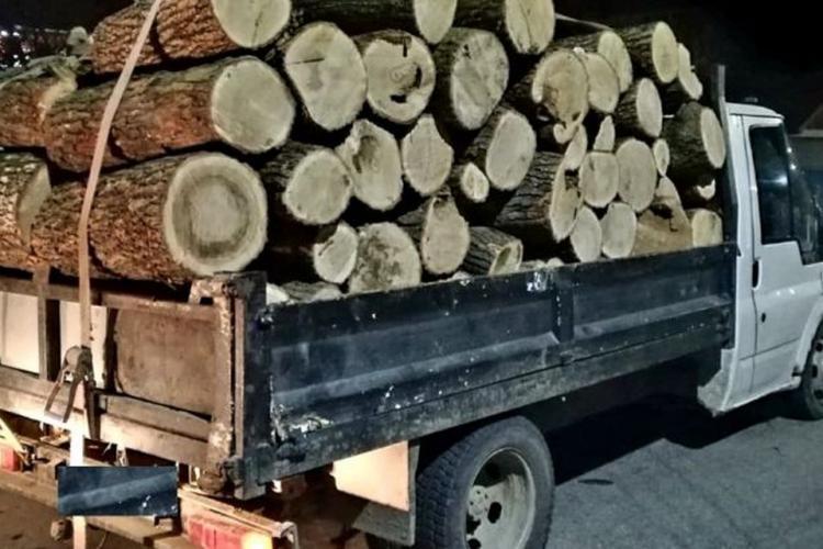Hoț de lemne tupeist prins în Iara fără permis și cu autoutilitara plină