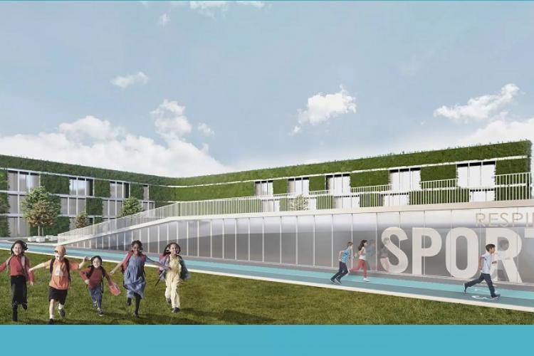 Școală nouă în Florești, pentru 900 de copii. Va fi un bazin și o sală de sport  - FOTO