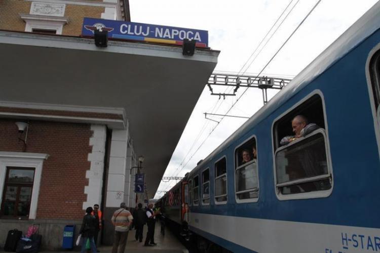 Trenuri defecte între Cluj-Napoca și Oradea. Circulația este blocată