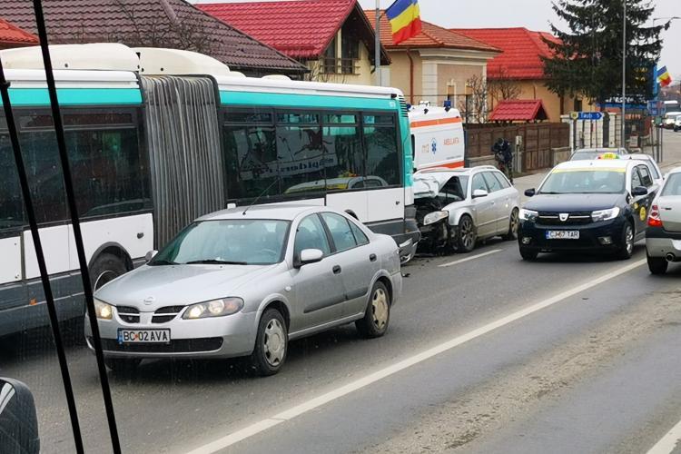 Accident pe Avram Iancu în Florești - FOTO