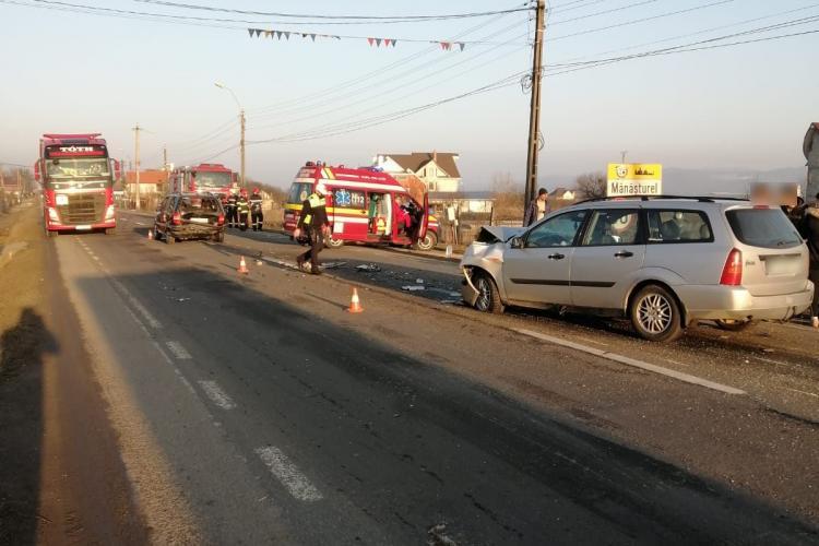 Accident în comuna Cuzdrioara! Traficul a fost deviat -FOTO