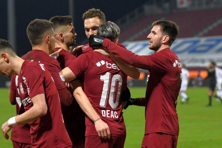 CFR Cluj a spulberat FC Argeș luni seara cu un scor de 5-0