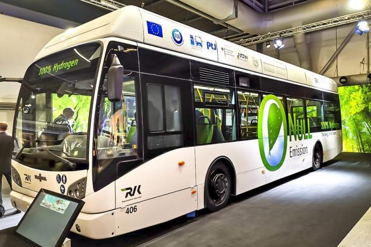 """Clujul cumpără autobuze cu hidrogen. Până în 2026 toată flota CTP va fi """"verde"""""""