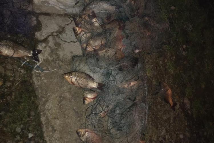Bărbați cercetați pentru furt calificat după ce au pescuit  peste 100 de kilograme de pește - FOTO