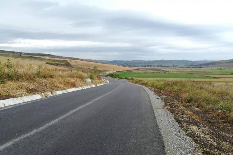 Drumul Bistriței a fost finalizat de Consiliul Județean Cluj - FOTO