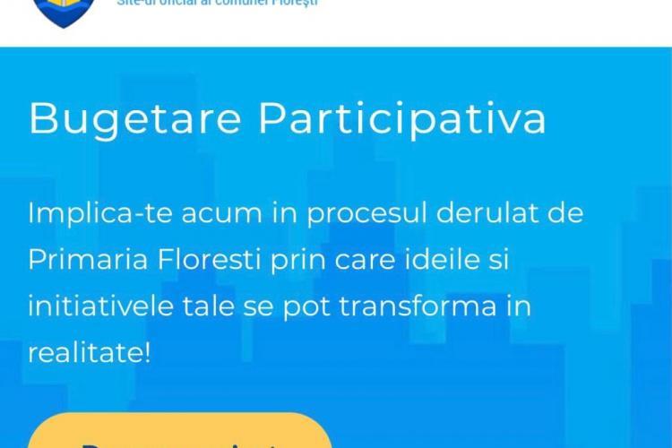 """Bugetare participativă Floresti 2021 - Bogdan Pivariu: """"Am alocat 1 milion de lei pentru Bugetarea Participativă"""""""