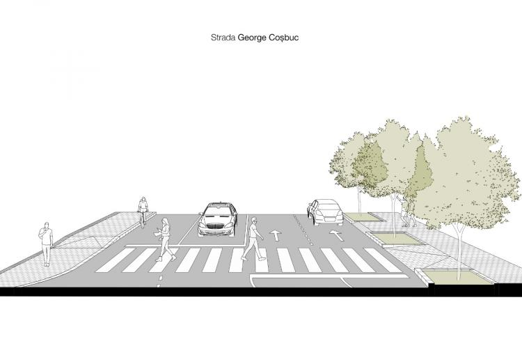 Strada George Coșbuc va avea 25 de locuri de parcare, după modernizare