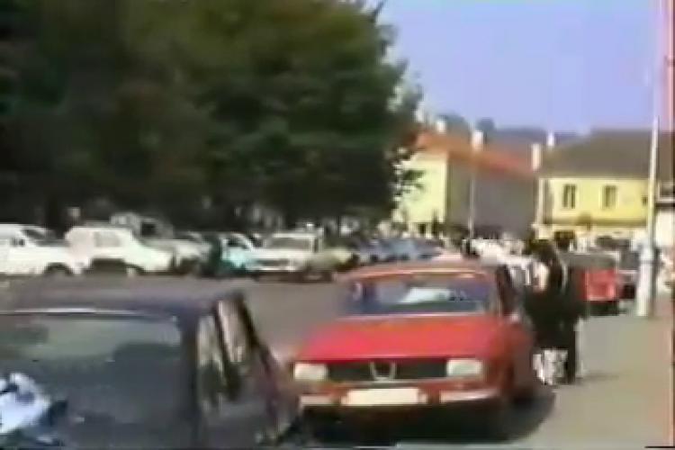 Cum arăta Clujul în toamna anului 1989, cu câteva luni înainte de Revoluție - VIDEO cu orașul plin de viață