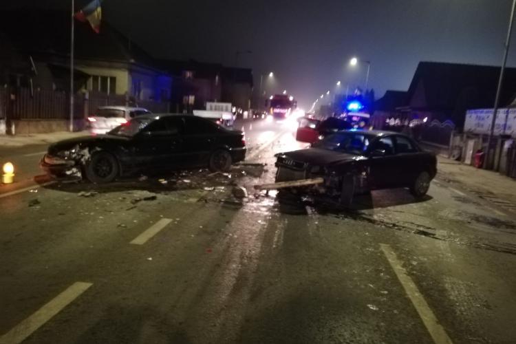 Accident în Florești, lângă Oncos. Trei mașini s-au făcut praf - FOTO