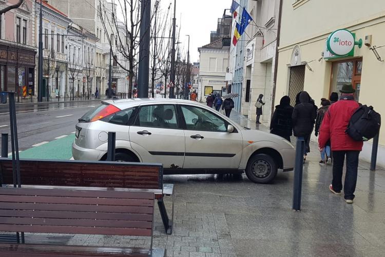 Așa se parchează pe la Cluj-Napoca - FOTO