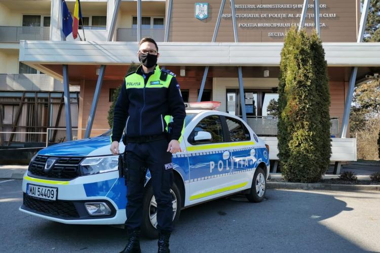 Bun simț de Cluj! Polițistul rutier a escortat cu girofarul un taxi la Urgență, iar șoferul oprit pentru amendă a așteptat 30 de minute