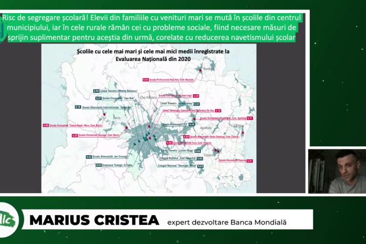 Banca Mondială: Se creează un fenomen de segregare școlară, prin calitatea școlilor din Cluj-Napoca și cele din comunele din jur