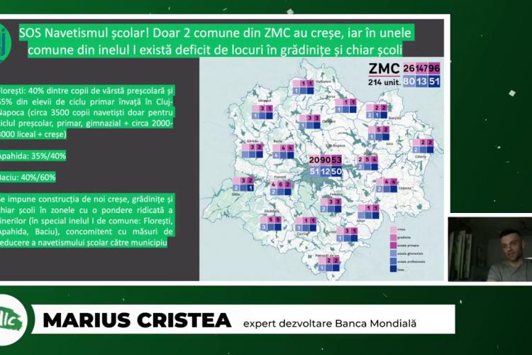 10.000 de elevi și 40.000 de oameni vin în Cluj-Napoca la școală și locul de muncă, din Baciu, Apahida, Florești, Chinteni, Ciurila, Gilău