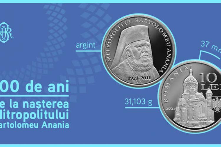 Se schimbă banii? Noua monedă de 10 lei cu imaginea Catedralei Mitropolitane din Cluj-Napoca