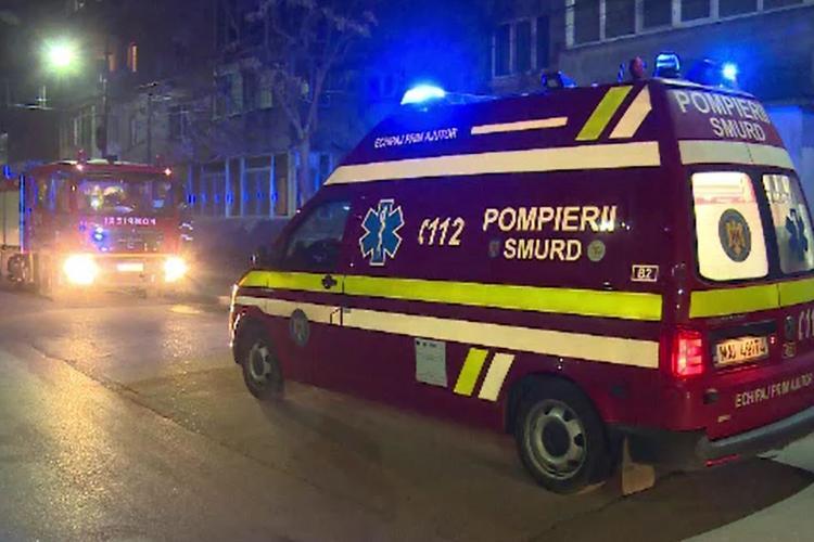 Incendiu și explozie la Câmpia Turzii, în care a murit o persoană - VIDEO