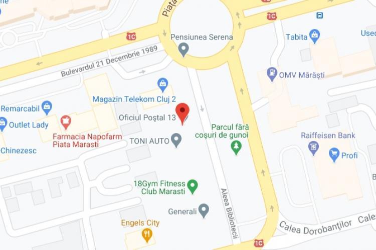 Oficiul Postal 13, Cluj-Napoca - Piata Marasti - Contact, adresă