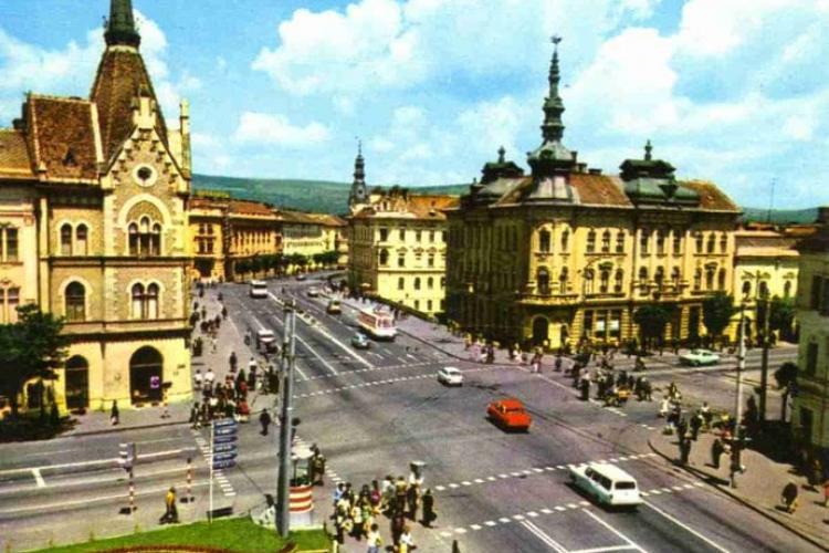 Cât de aerisită era intersecția Regele Ferdinand - George Baritiu în 1972 - FOTO