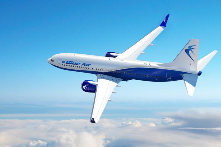Blue Air anunță introducerea a 15 rute noi în această vară de pe Aeroportul din Cluj