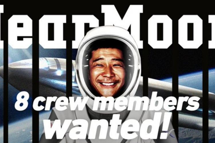 Peste 2.000 de români s-au înscris la călătoria gratuită în jurul Lunii, plătită de un miliardar japonez