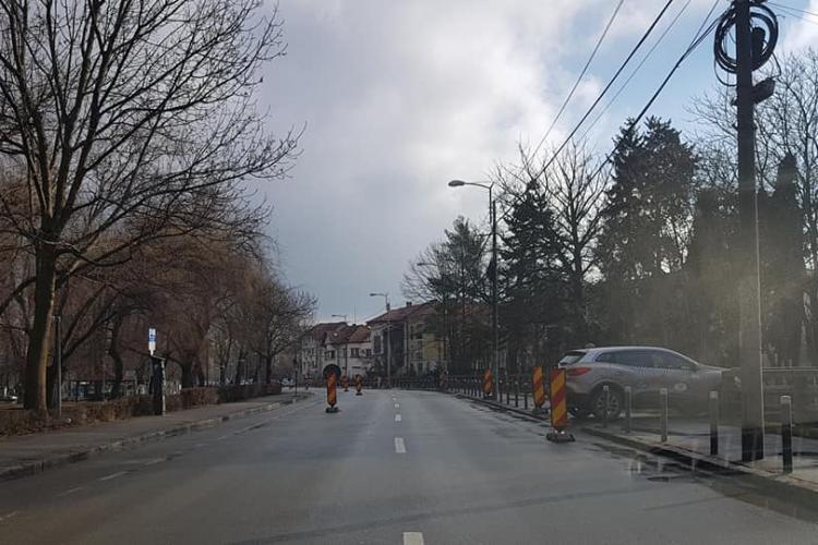 Sens unic dinspre Coșbuc spre Barițiu, pe durata lucrărilor de asfaltare în zona Parcului Central din Cluj-Napoca