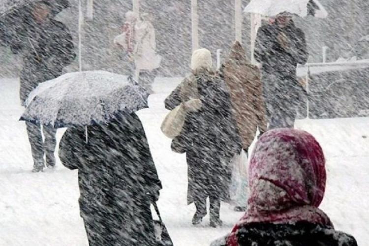 Meteo Cluj: Cod galben de ploi și ninsori până miercuri. VEZI harta județelor vizate