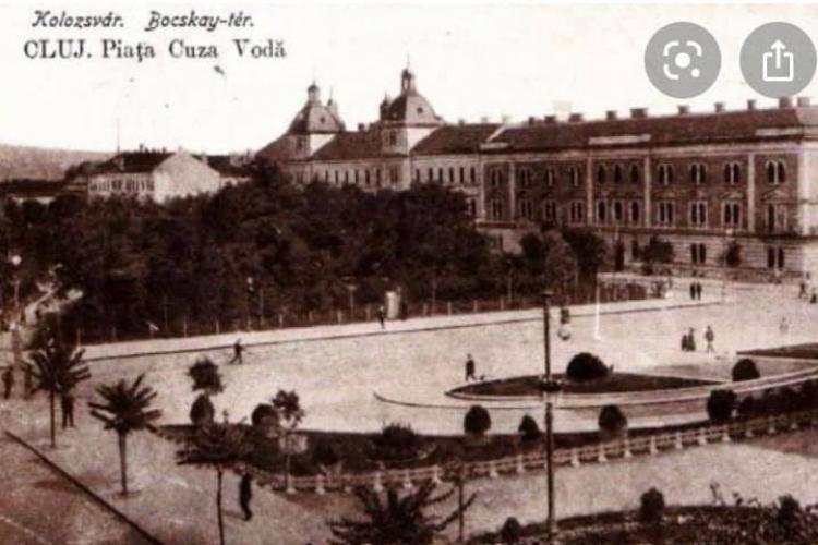 În Piata Avram Iancu era un parc pădure până în 1920 - Fotografie de atunci, din fosta Piață Cuza Vodă