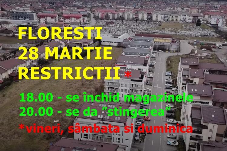Ce restricții se impun în Florești, de duminică 28 martie. Floreștiul e la 6,71 cazuri la mia de locuitori