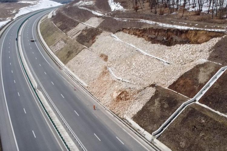 S-a surpat Autostrada Transilvania. Se impun restricții de 60 km/h - VIDEO