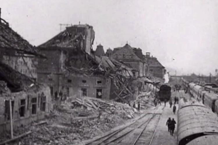 Gara Cluj a fost bombardată de americani în 1944. Clădirile de pe Horea au fost distruse - FOTO
