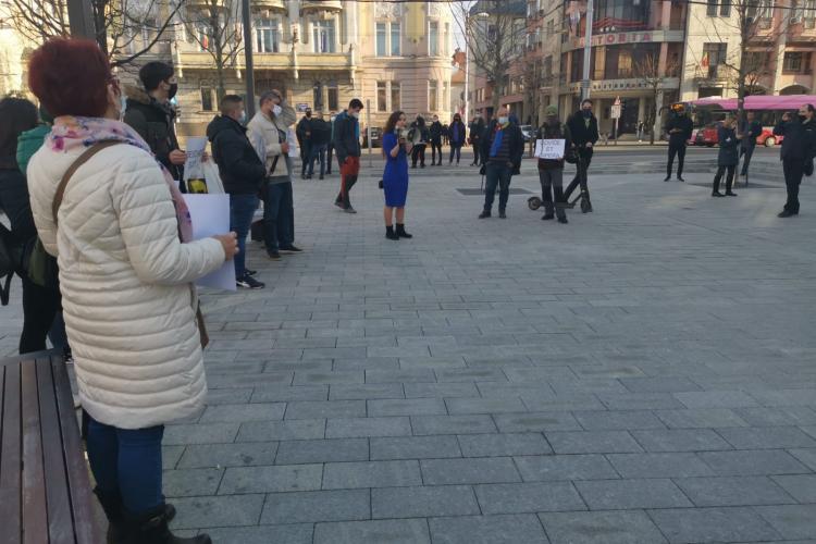 Proteste la Cluj și miercuri seara: Noi ieșim și pentru voi! Libertate - VIDEO