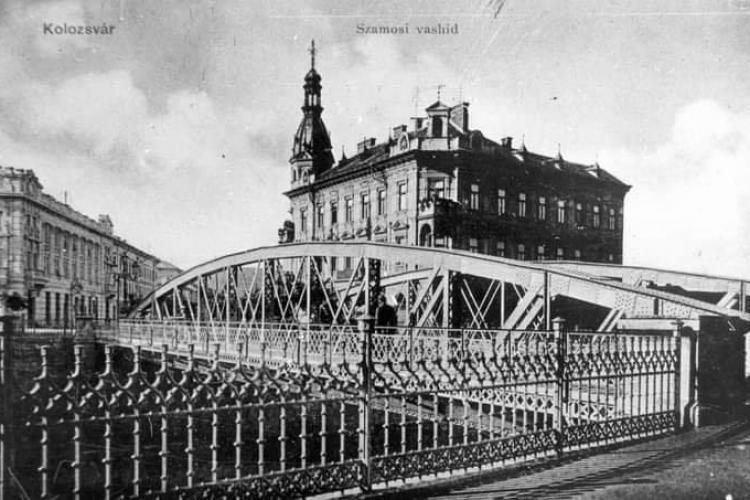 Istoria neclară a Podului Horea, din centrul Clujului, De la podul de lemn, la metal și acum la beton - FOTO