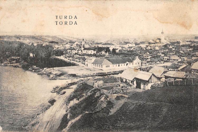 Imagine cu Turda veche, cel mai probabil din perioada interbelică - FOTO
