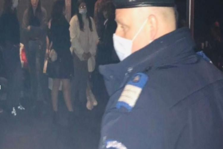Cluj: Petrecere privată pe strada Horea întreruptă de jandarmi - FOTO