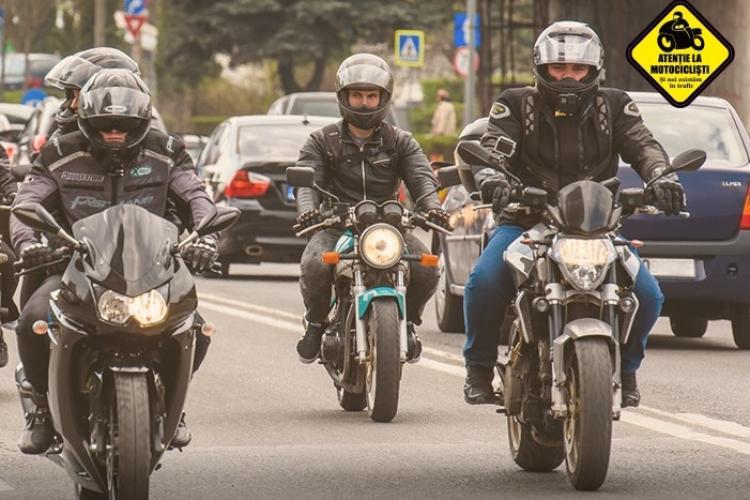 """Cluj: Motocicliștii organizează marș prin Cluj-Napoca: """"Atenție la motocicliști; Și noi existăm în trafic"""""""