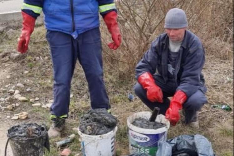 Șervețele umede scoase din canalizarea din Dezmir, pe strada Planoarelor - FOTO