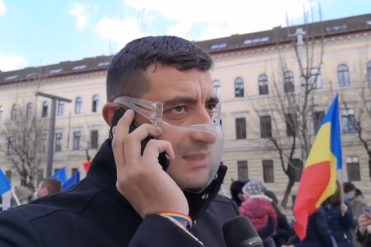 George Simion mesaj MODERAT la Cluj. AUR se opune unui pașaport de vaccinare, dar susține vaccinarea celor care doresc