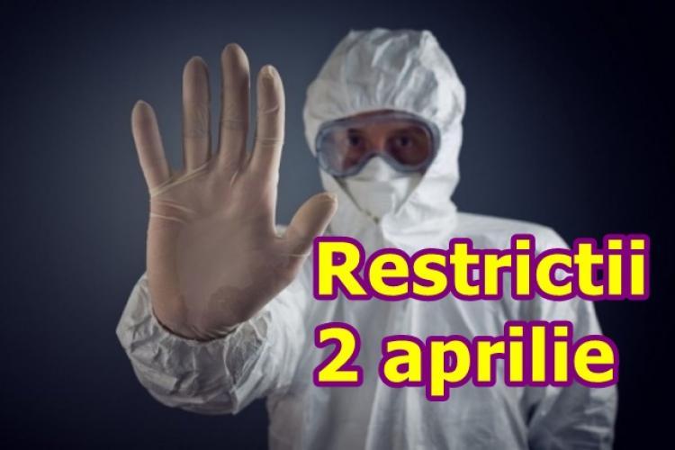 Restricțiile mai DURE se aplică din 2 aprilie, la Cluj-Napoca, Apahida, Bonțida, Ciucea, Poieni (9 localități în total)