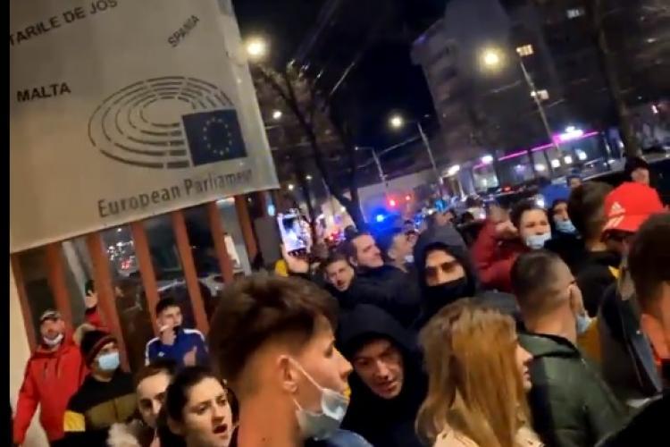 Protest la Brăila împotriva restricțiilor COVID - VIDEO LIVE