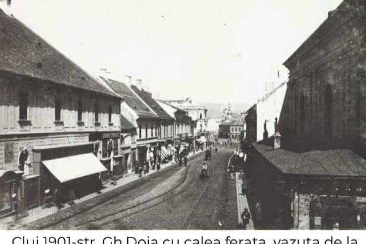 Pe stada Regele Ferdinand (Gheorghe Doja), în 1901, trecea trenul - FOTO