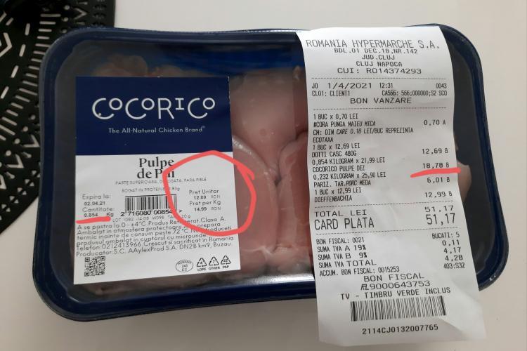 O clujeancă pretinde că a fost victima prețurilor false din supermarketuri - FOTO
