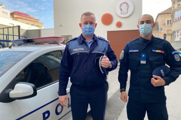 Doi polițiști au salvat un bărbat care intenționa să își ia viața - FOTO