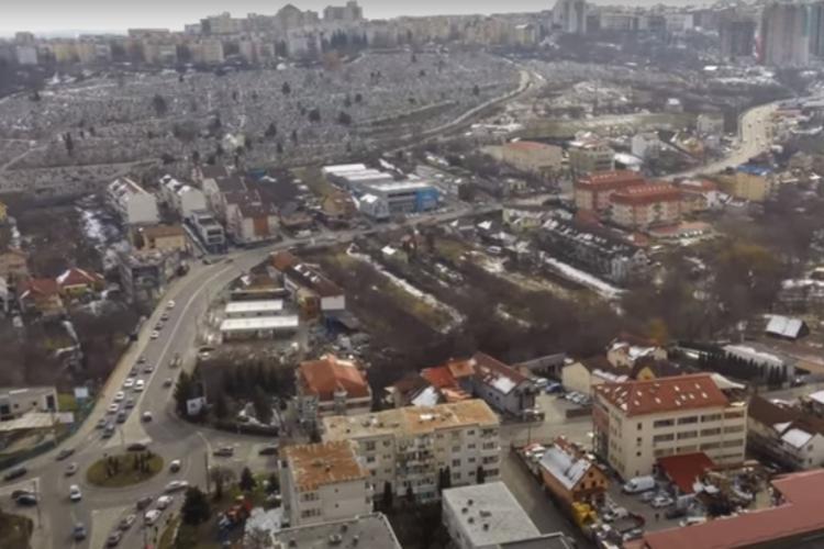 Filmare aeriană din Mănăștur! Panoramă cu strada Izlazului, varianta Zorilor - Mănăștur - VIDEO