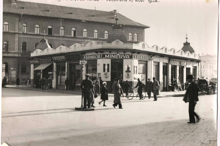 Fotografie surpriză din Clujul Vechi - Intersecția Regele Ferdinand - George Barițiu - FOTO