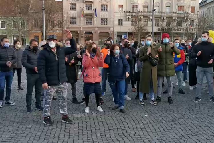Protest la Cluj! Clujenii cer să poată merge la sălile de sport / fitness - VIDEO