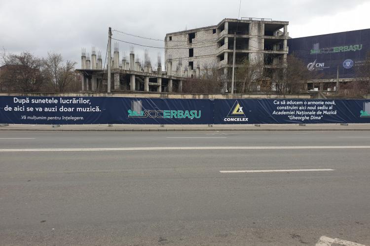 Ruina Spitalului de Urgență din Mănăștur dispare! Au început lucrările la clădirea Academiei de Muzică de pe Bucium